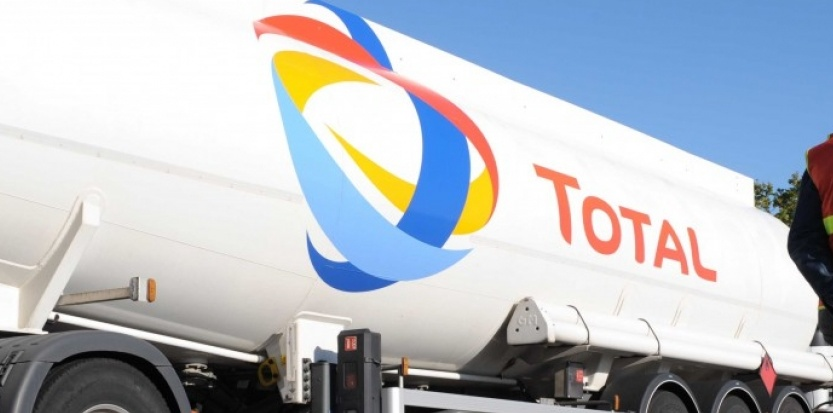 total logo on a truck
