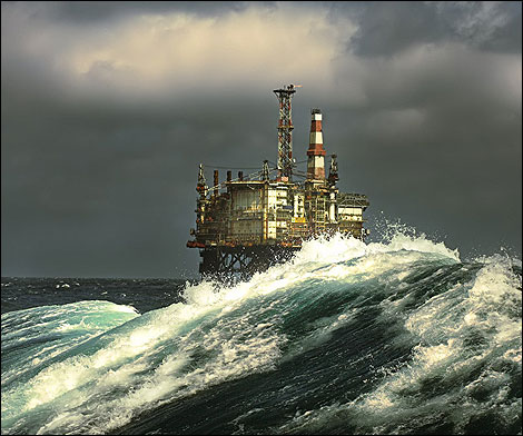 north sea offshore platform