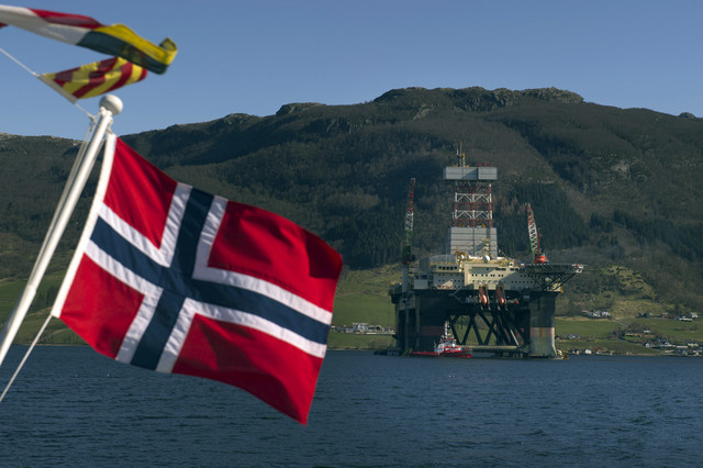 norvegian oil and gas platform